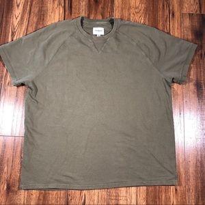 Goodfellow olive green short sleeve sweatshirt XL